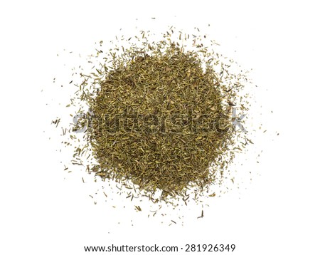 Thyme isolated on white background - stock photo
