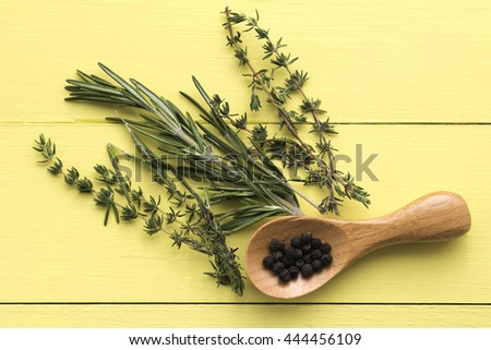 Thymus, Rosemary and Pepper