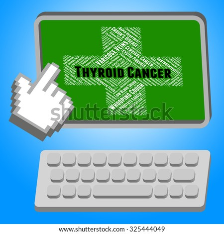 Thyroid Cancer Representing Cancerous Growth And Infection