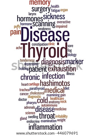 Thyroid Disease, word cloud concept on white background.