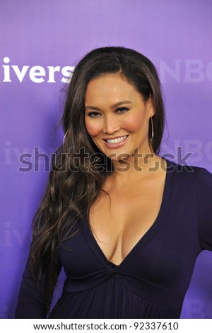 Tia Carrera, star of The Celebrity Apprentice, at the NBC Universal Winter 2012 TCA party at The Athenaeum in Pasadena. January 6, 2012  Los Angeles, CA Picture: Paul Smith / Featureflash - stock photo
