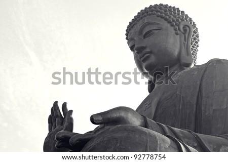 Tian Tan Buddha - stock photo