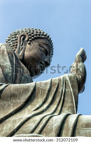 Tian Tan Buddha at Po Lin Monastery on Lantau Island in Hong Kong (China).