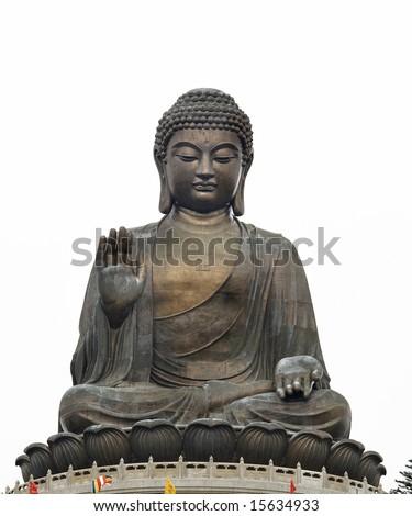 tian tan giant buddha hong kong china - stock photo