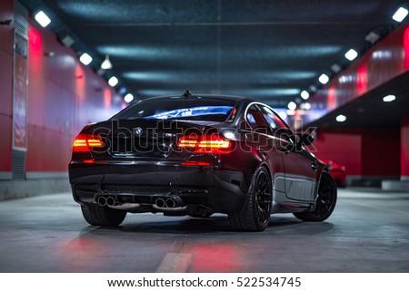 Tianjin, China   Feb 28, 2016: BMW M3 (E92) Coupe,