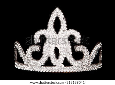 tiara on a black background