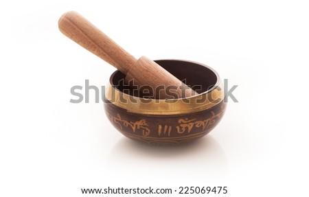 Tibetan Bowl - stock photo