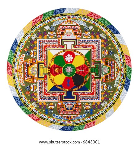 Tibetan mandala - stock photo