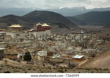 Tibetan monastery - stock photo