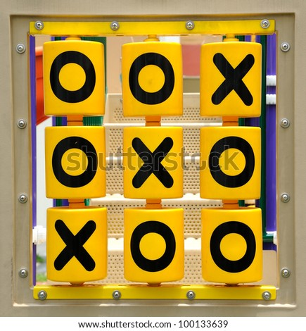 Tic tac toe game for childrens.