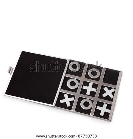 tic-tac-toe is isolated on a white background - stock photo