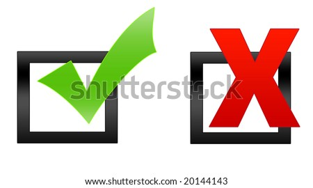 Tick in check box - stock photo