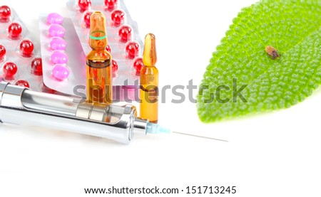 Tick vaccination - stock photo