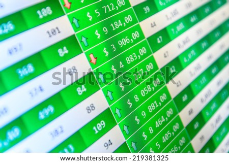 Stock options monitor