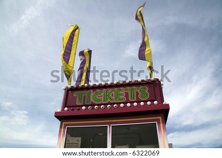 Ticket Booth at a Carnival - stock photo