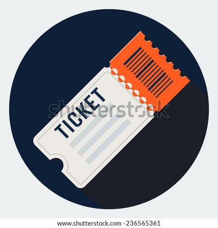 Ticket icon - stock photo