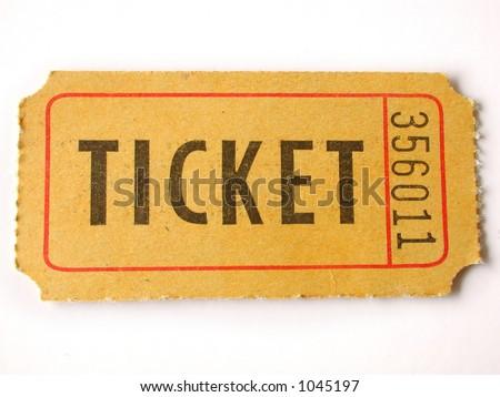 ticket stub - stock photo