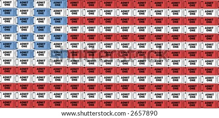 Ticket To America - stock photo