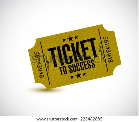 ticket to success concept illustration design over a white background - stock photo