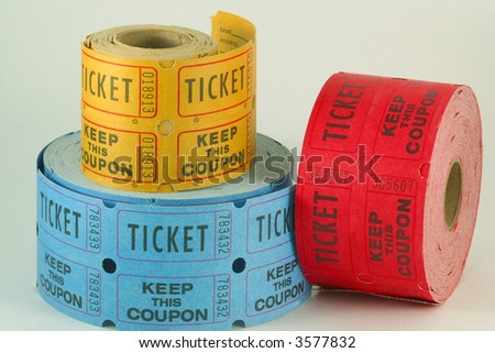 Tickets for a raffle or lottery - stock photo