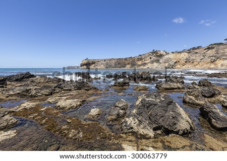 Tidal pools at Abalone Cove in Southern California.   - stock photo
