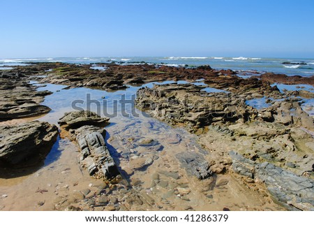 Tidal pools, East Beach, Port Alfred, Eastern Cape, South Africa