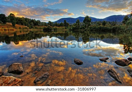 Tidbinbilla Nature Reserve in Canberra - stock photo