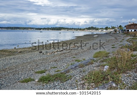 Tide out on the shores of Birch Bay, Washington