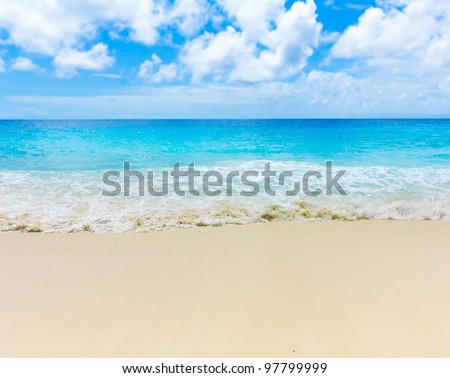 Tide Splashing Sea - stock photo