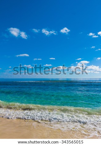 Tide Storm Beach  - stock photo