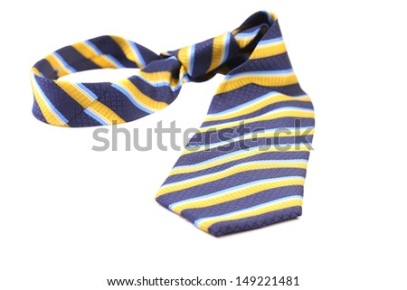 Tie a colorful striped.