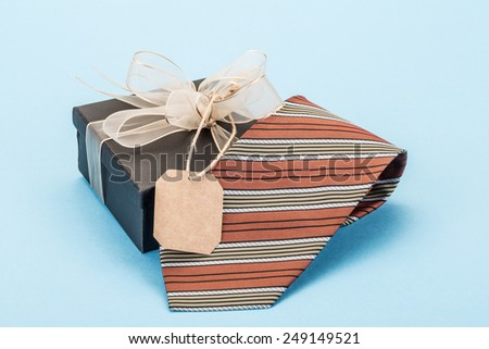 tie as a gift - stock photo