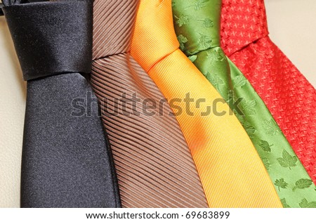 tie collection - stock photo
