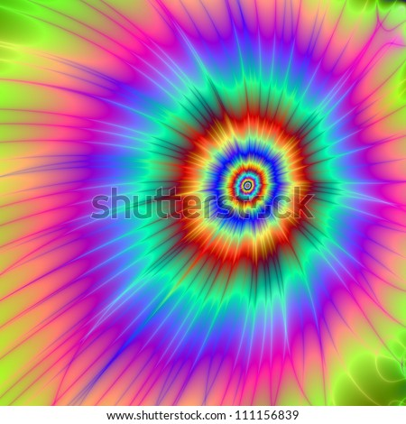 Tie dye Color Explosion/Digital abstract image with a Tie-dye Color Explosion design in pink, blue, purple, green, and red.
