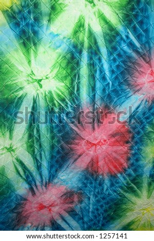 Tie-dye fabric. - stock photo