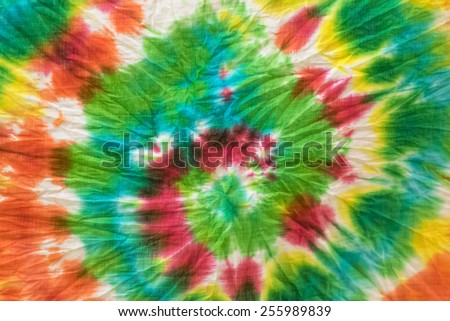 tie dye fabric background - stock photo