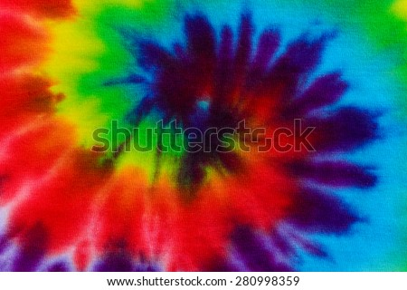 tie dye fabric background - stock photo