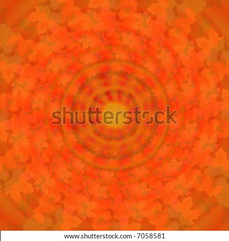 tie dye spiral background made of leaves - stock photo