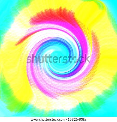 Tie-dye Swirl - stock photo