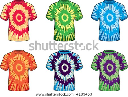 Tie Dye T-Shirts - stock photo