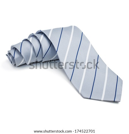 tie folded. on a white background - stock photo