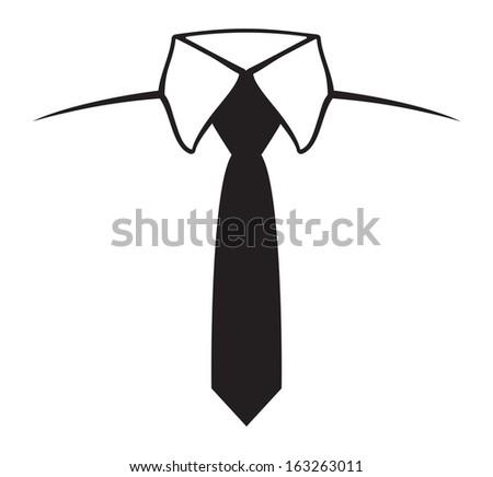 Tie Icon Symbol - stock photo
