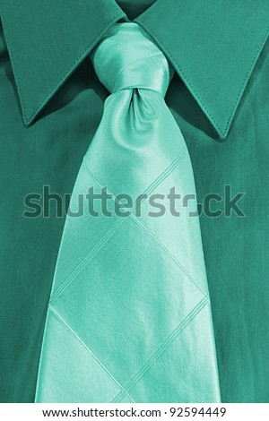 tie on a shirt - stock photo