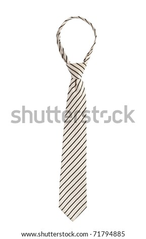 Tie on a white background isolated. Vertical position. - stock photo