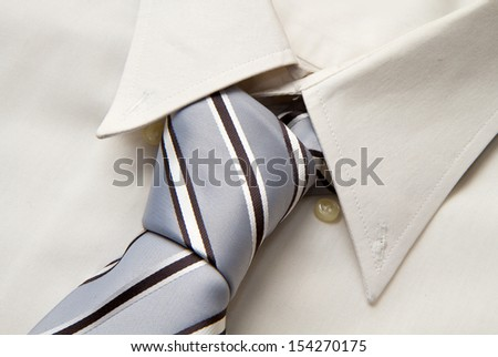 tie on shirt - stock photo