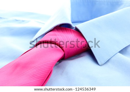 tie on shirt isolated on white - stock photo