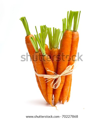 tied carrots - stock photo