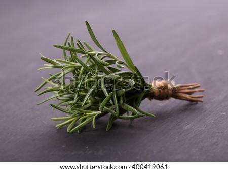 tied fresh rosemary - stock photo