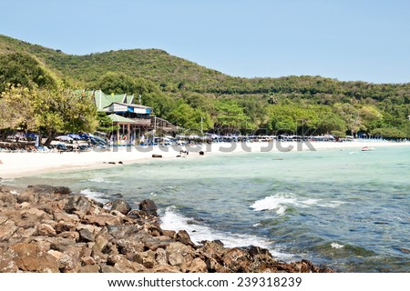 Tien beach (koh Larn, Pattaya, Thailand) - stock photo