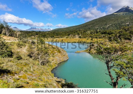 Tierra del Fuego National Park, Ushuaia, Argentina - stock photo